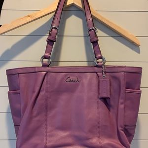 Coach tote zipper bag